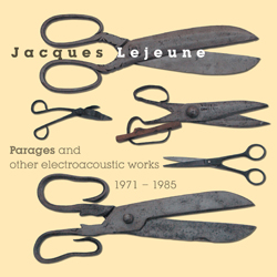 Jacques Lejeune - Parages and Other Electroacoustic Works 3CD - Robot Records
